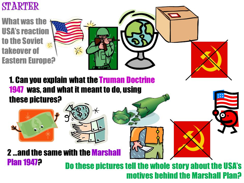 What was the USA's reaction to the Soviet takeover of Eastern Europe