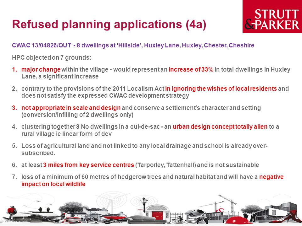 Refused planning applications (4a)