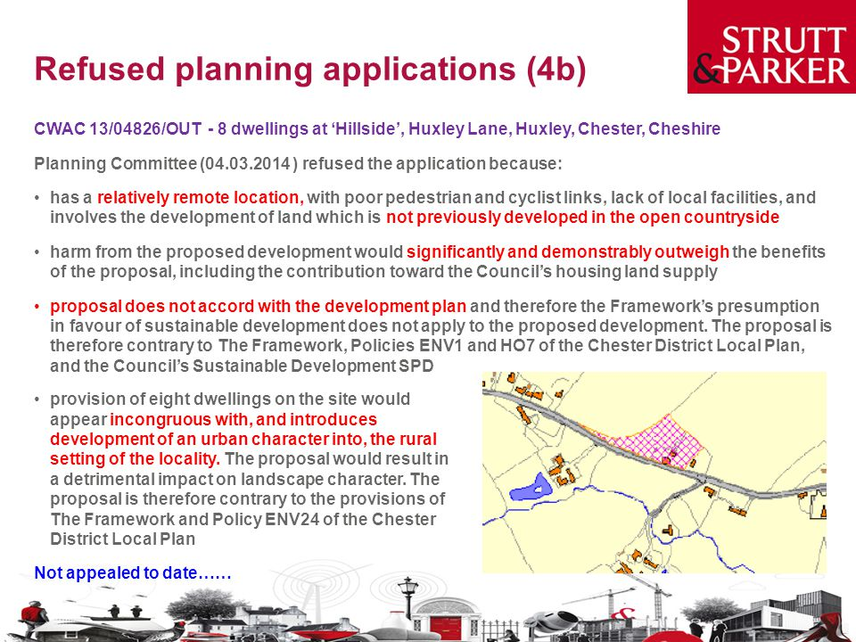 Refused planning applications (4b)