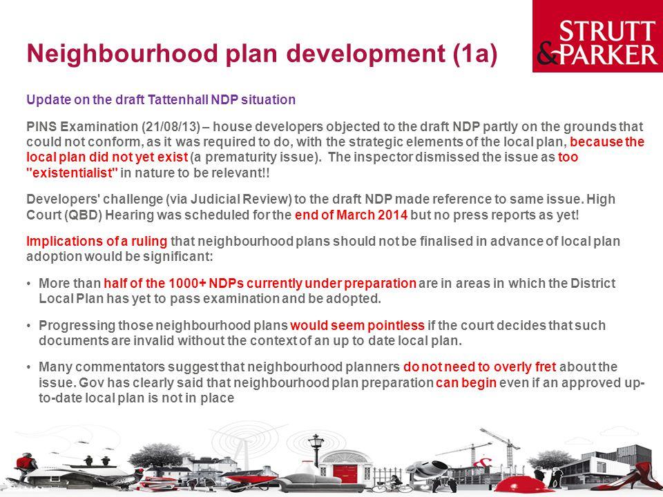 Neighbourhood plan development (1a)