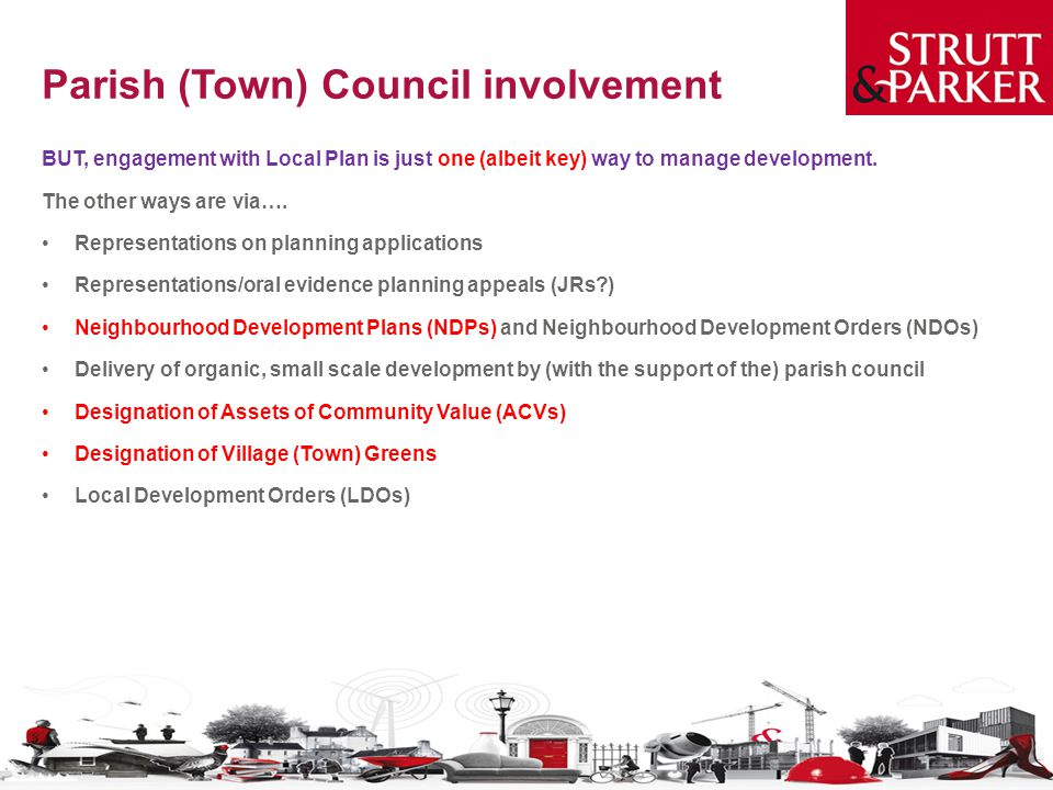 Parish (Town) Council involvement