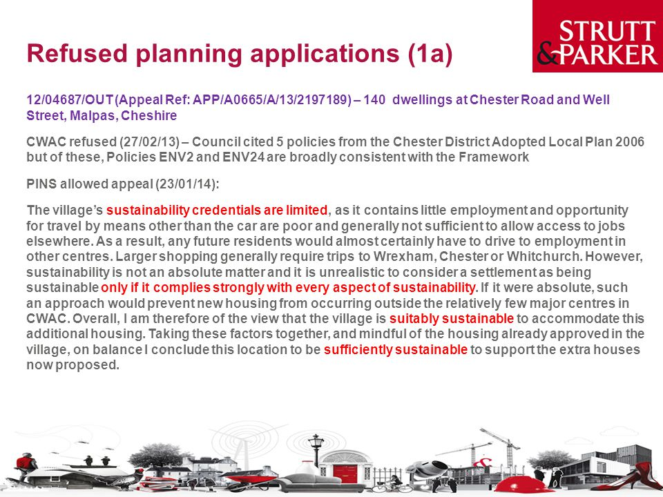 Refused planning applications (1a)