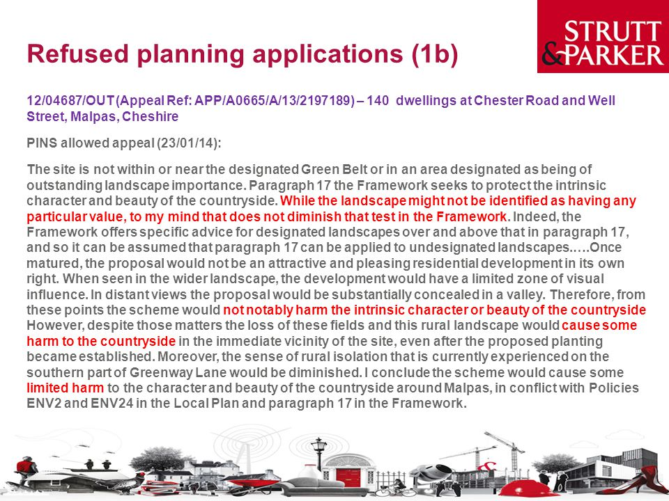 Refused planning applications (1b)
