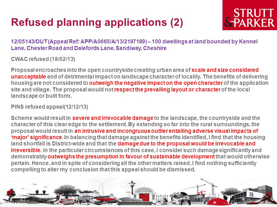 Refused planning applications (2)