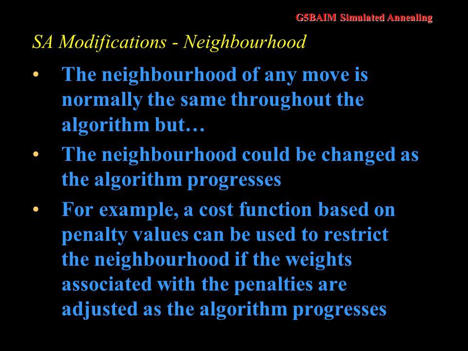 SA Modifications - Neighbourhood