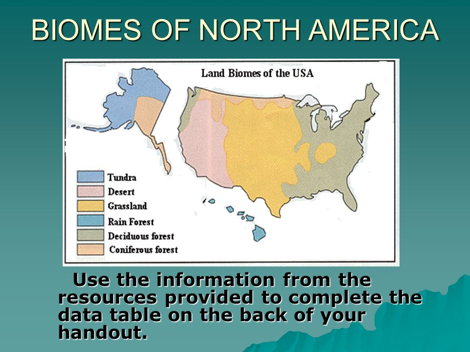BIOMES OF NORTH AMERICA