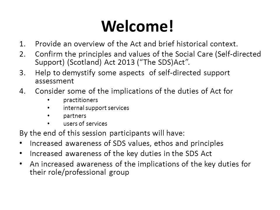Welcome! Provide an overview of the Act and brief historical context.