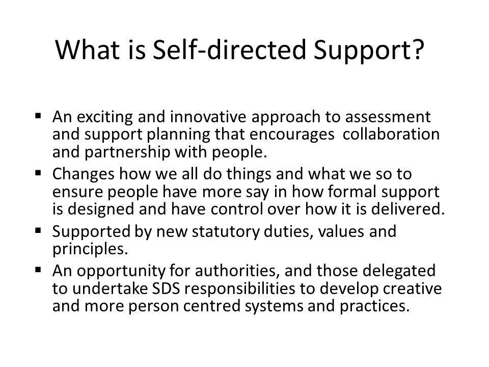 What is Self-directed Support