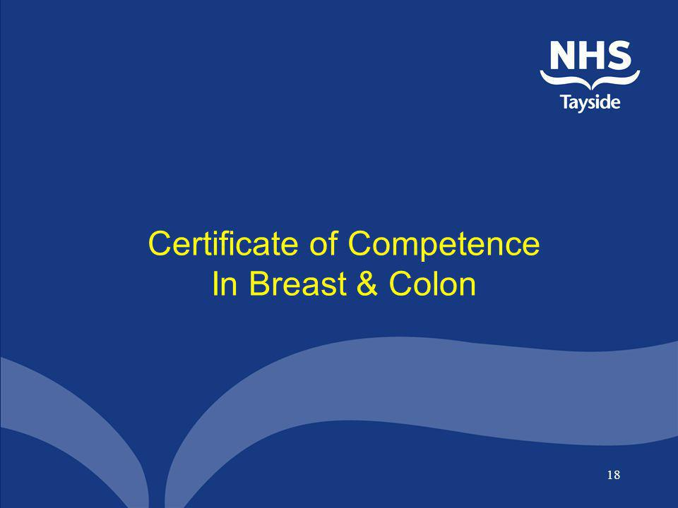 Certificate of Competence In Breast & Colon