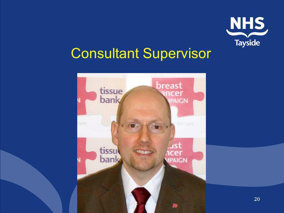 Consultant Supervisor