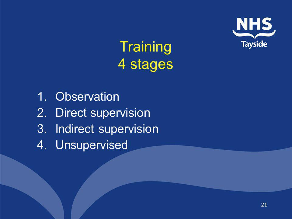 Training 4 stages Observation Direct supervision Indirect supervision