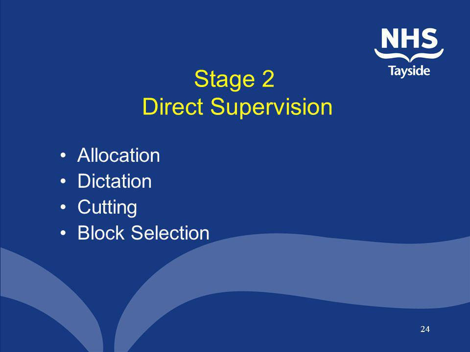 Stage 2 Direct Supervision