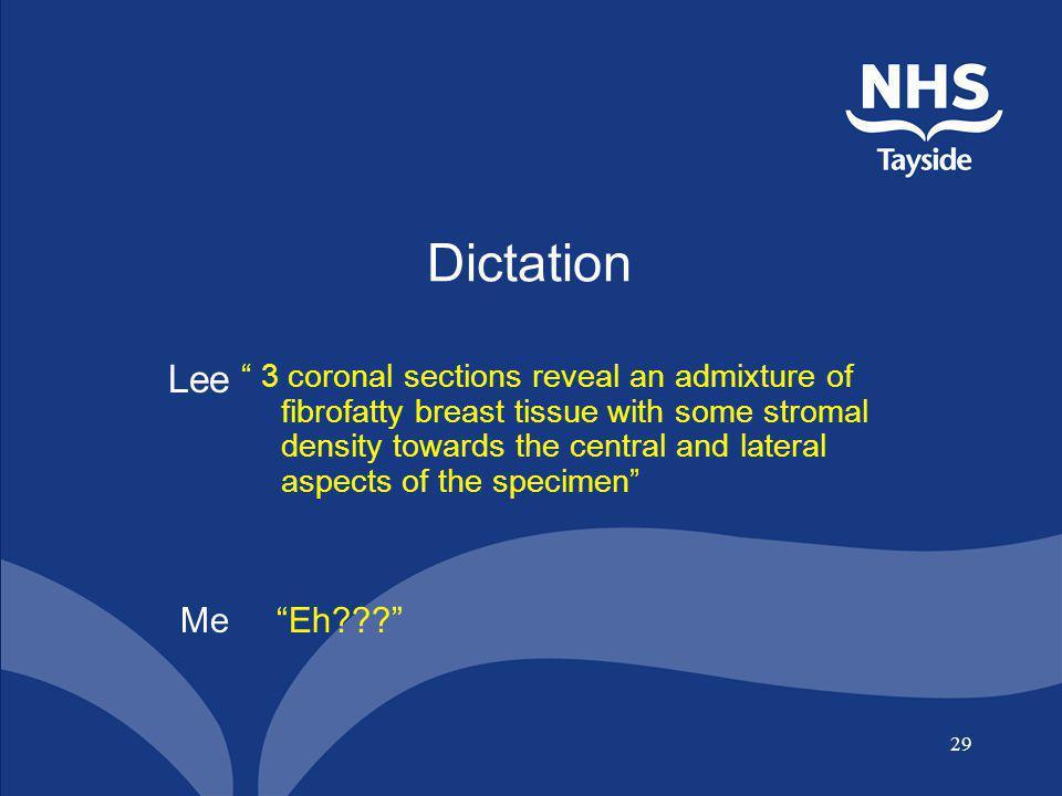 Dictation Lee.