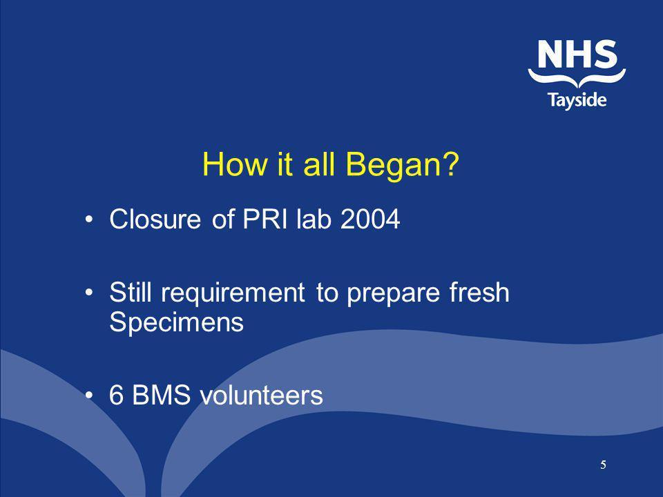 How it all Began Closure of PRI lab 2004