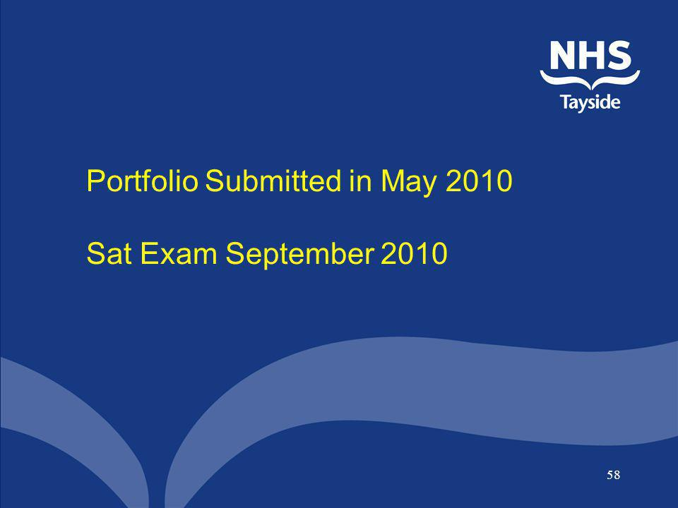 Portfolio Submitted in May 2010 Sat Exam September 2010