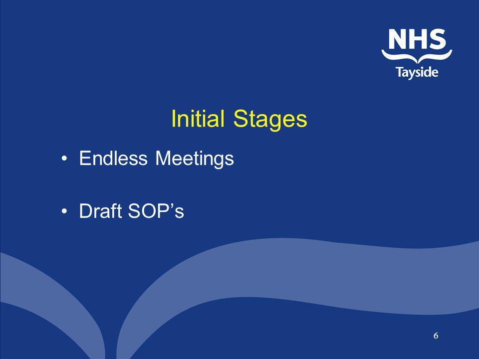 Initial Stages Endless Meetings Draft SOP's