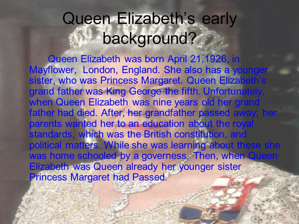Queen Elizabeth's early background