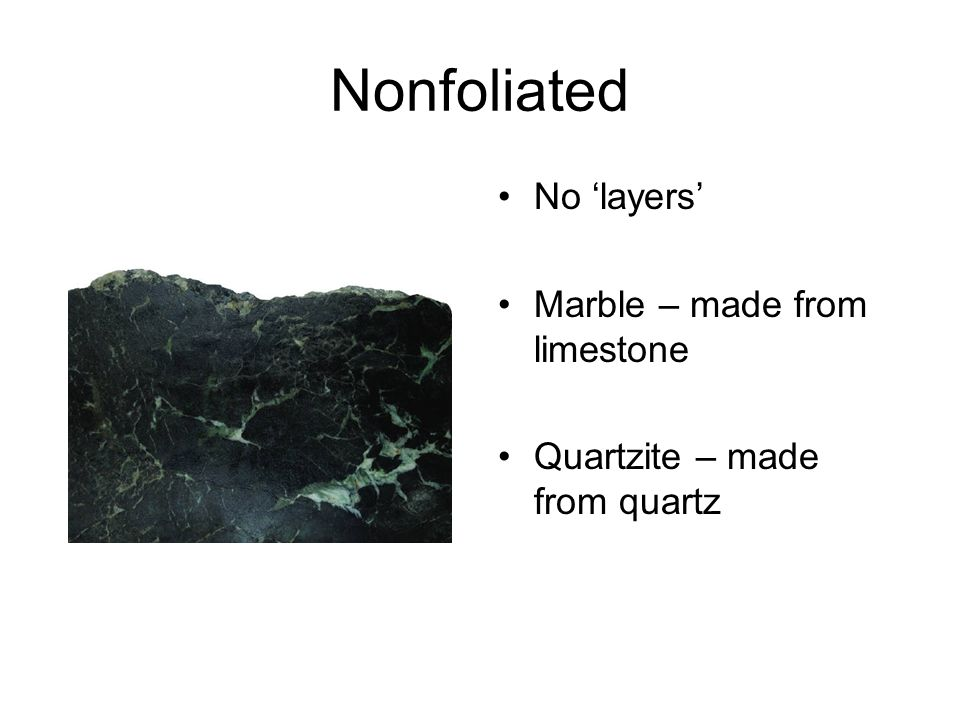 Nonfoliated No 'layers' Marble – made from limestone