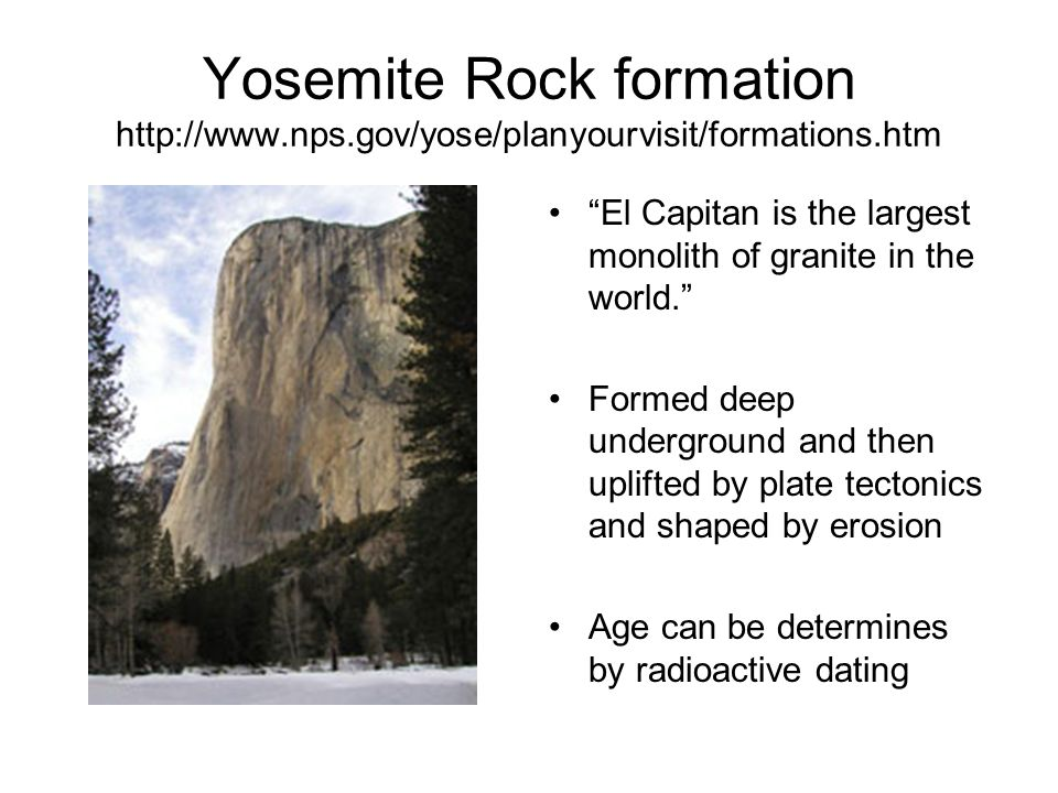Yosemite Rock formation   nps
