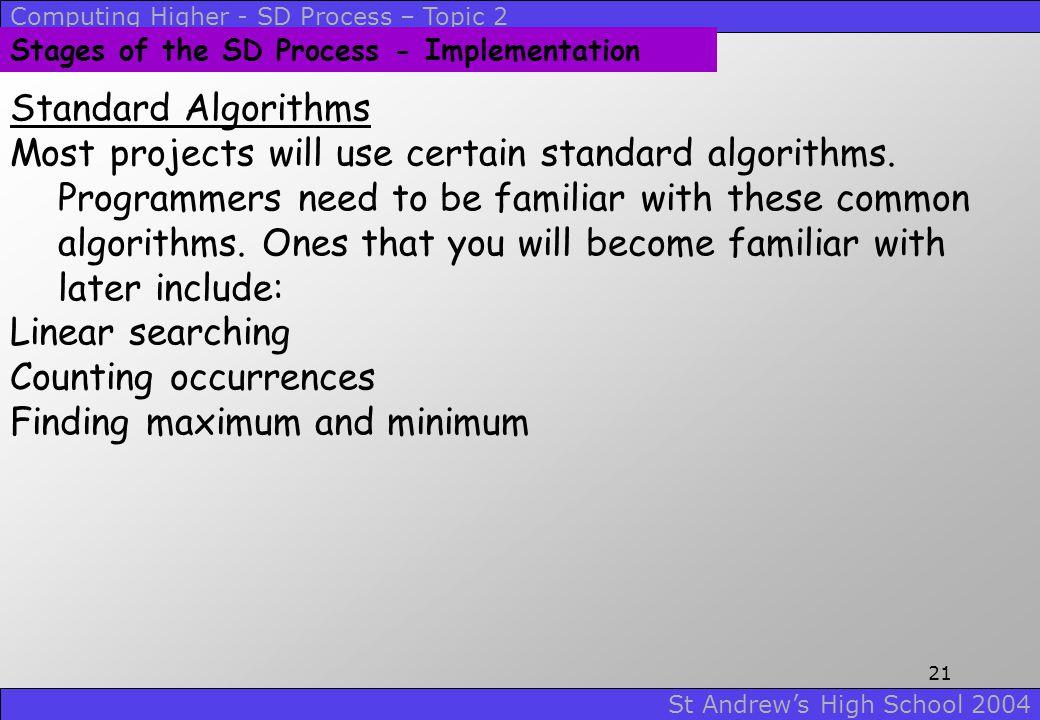 Finding maximum and minimum