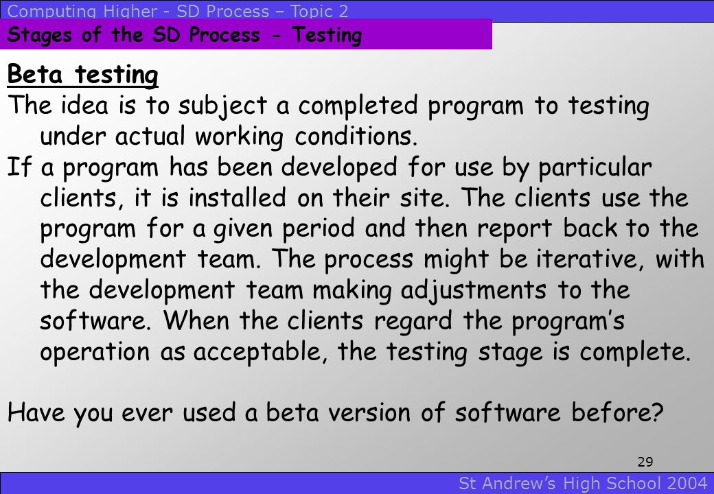 Have you ever used a beta version of software before