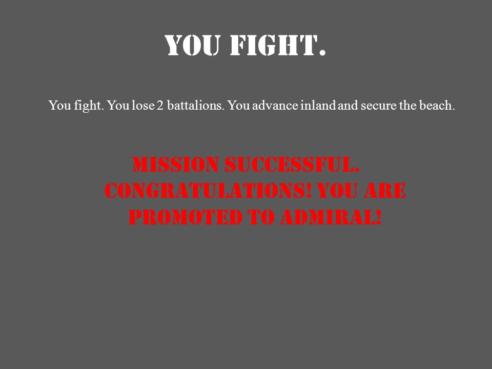 YOU FIGHT.