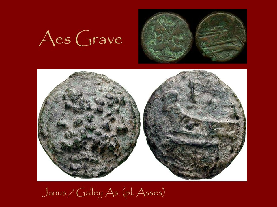 Aes Grave Janus / Galley As (pl. Asses)