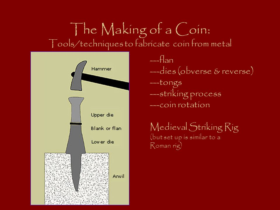 The Making of a Coin: Tools/techniques to fabricate coin from metal