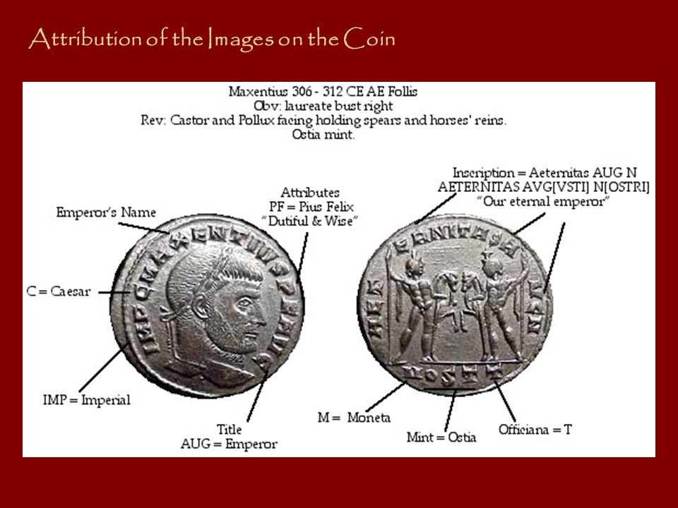 Attribution of the Images on the Coin
