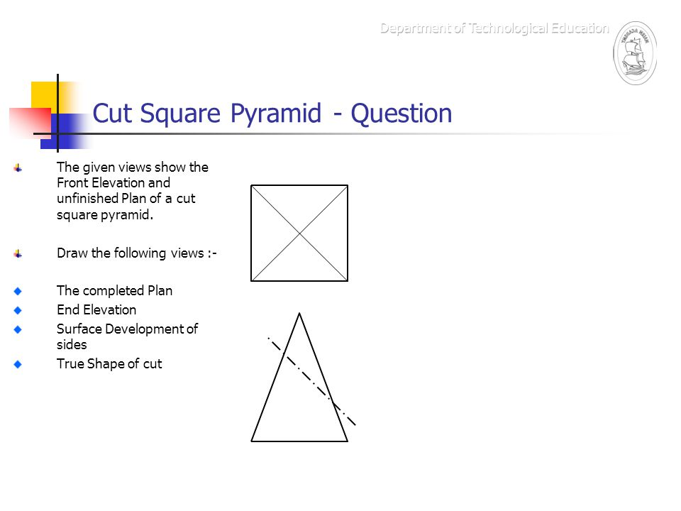 Plan And Front Elevation Of A Solid Shape : Graphic communication ppt video online download