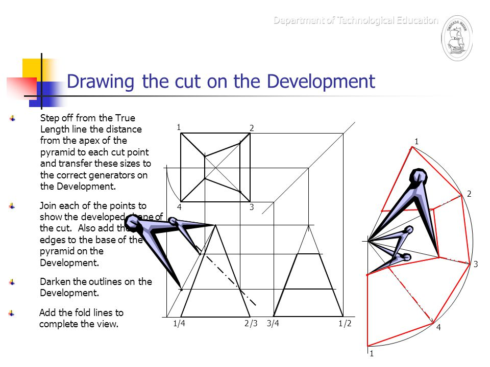 Drawing the cut on the Development