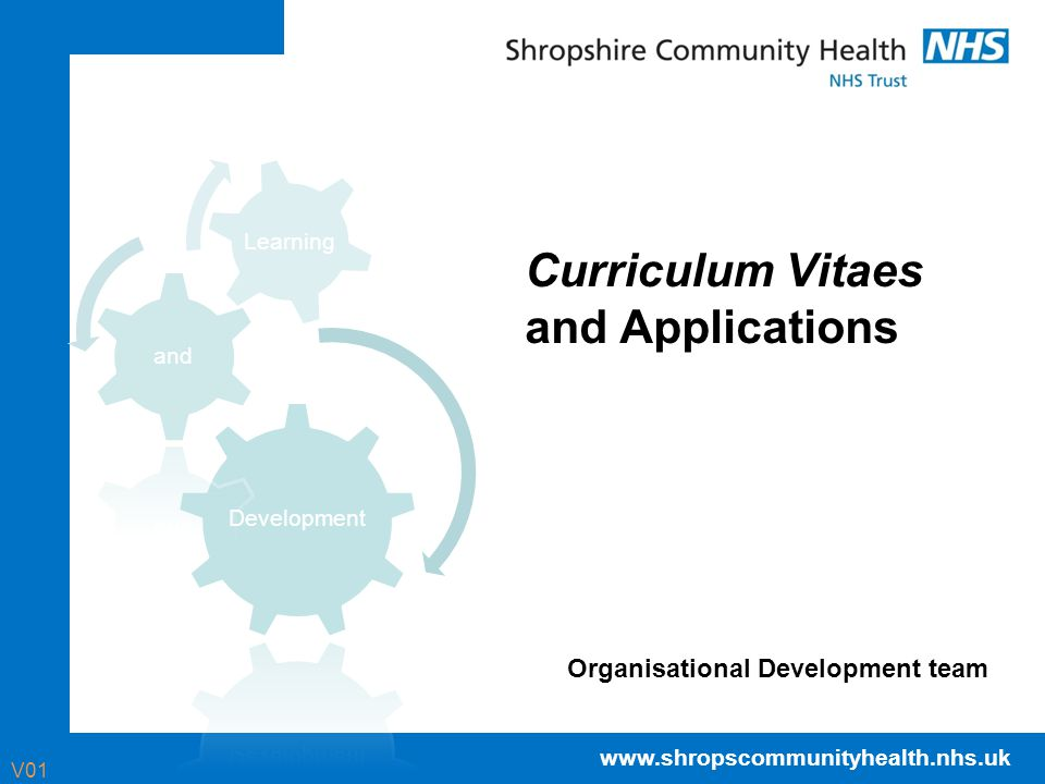 Curriculum Vitaes and Applications