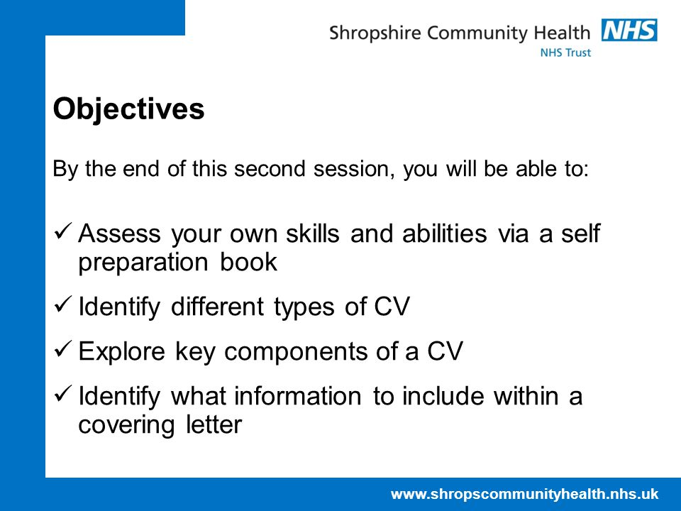 NHS IT Training Centre April 17. Objectives. By the end of this second session, you will be able to: