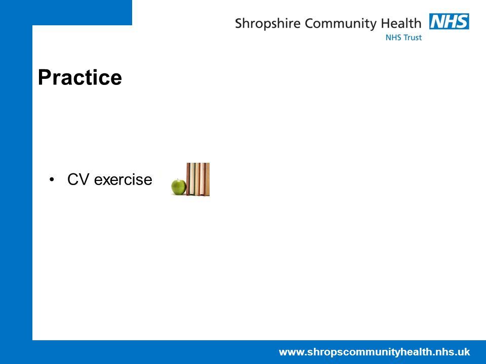Practice CV exercise