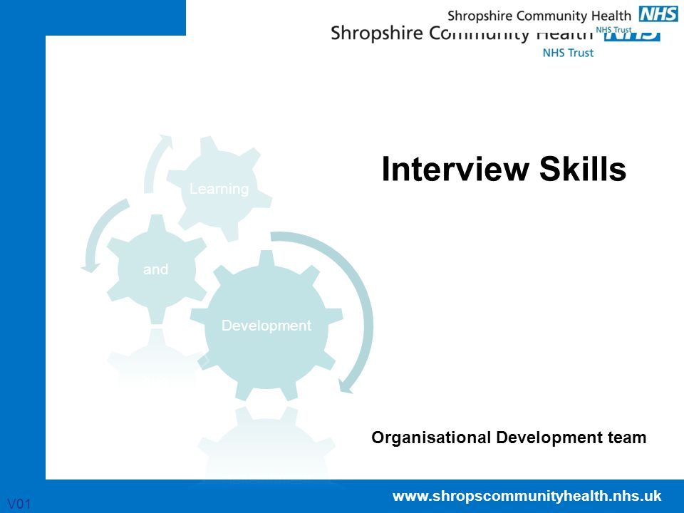 Interview Skills Organisational Development team V01