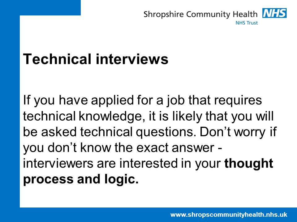 Technical interviews