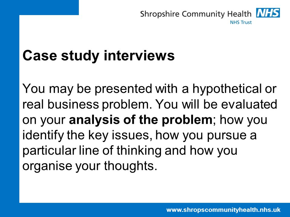 Case study interviews