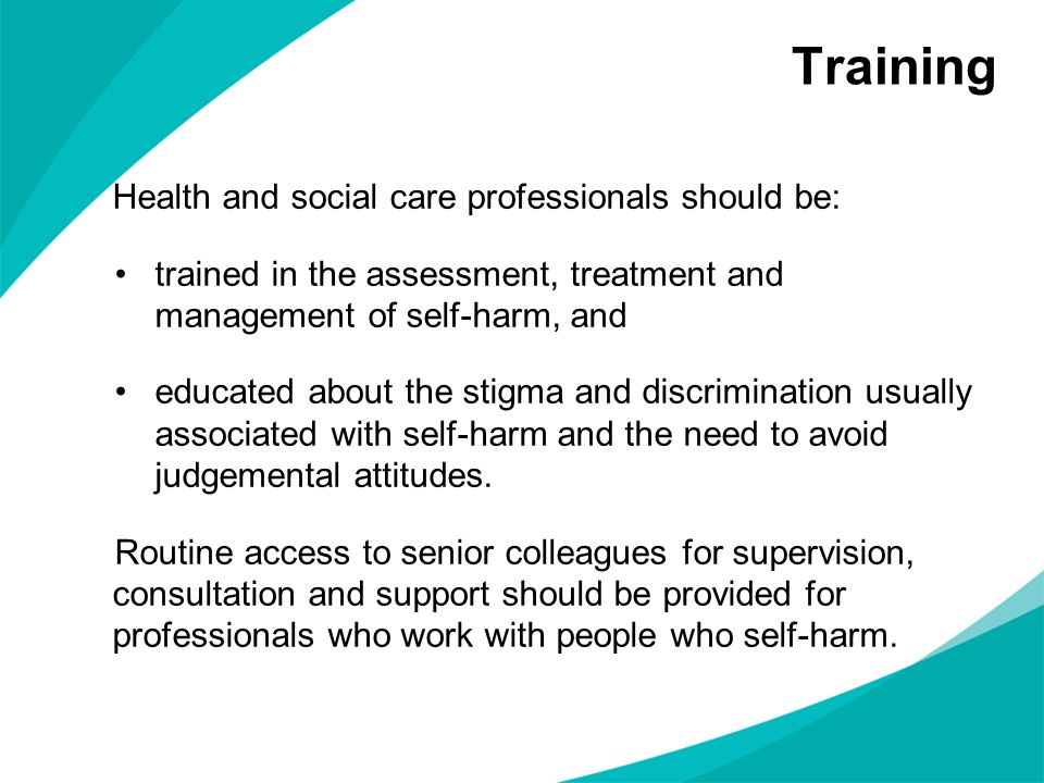Training Health and social care professionals should be: