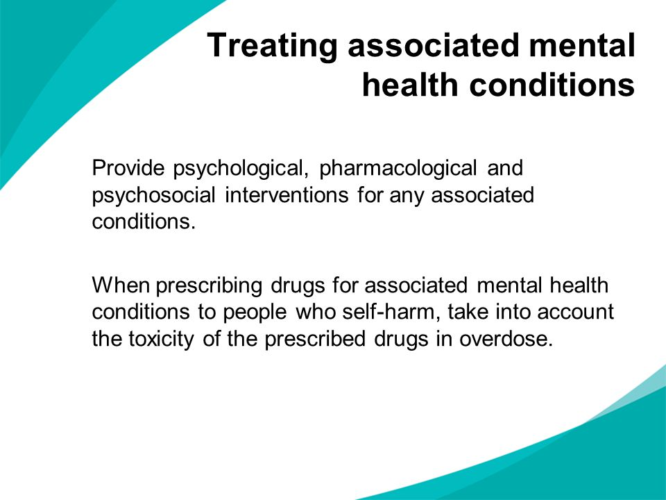 Treating associated mental health conditions