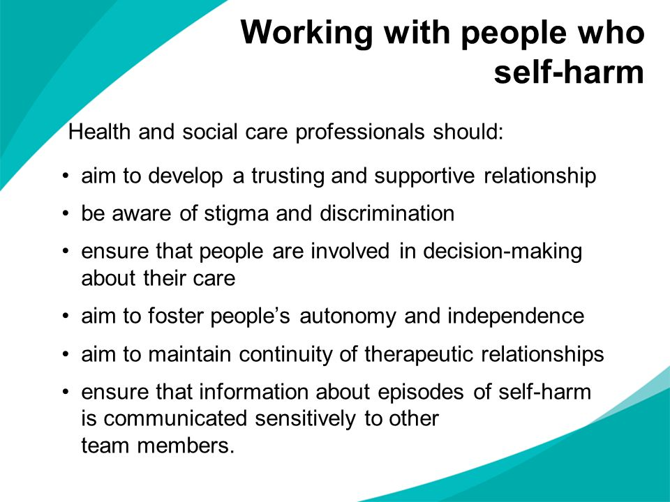 Working with people who self-harm