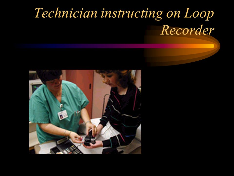 Technician instructing on Loop Recorder