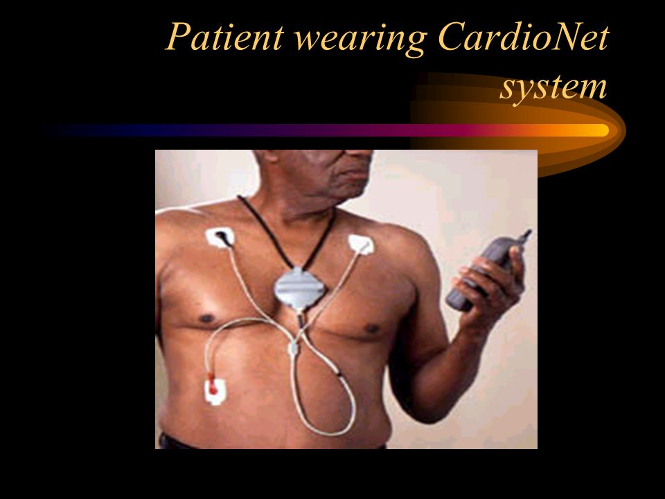 Patient wearing CardioNet system