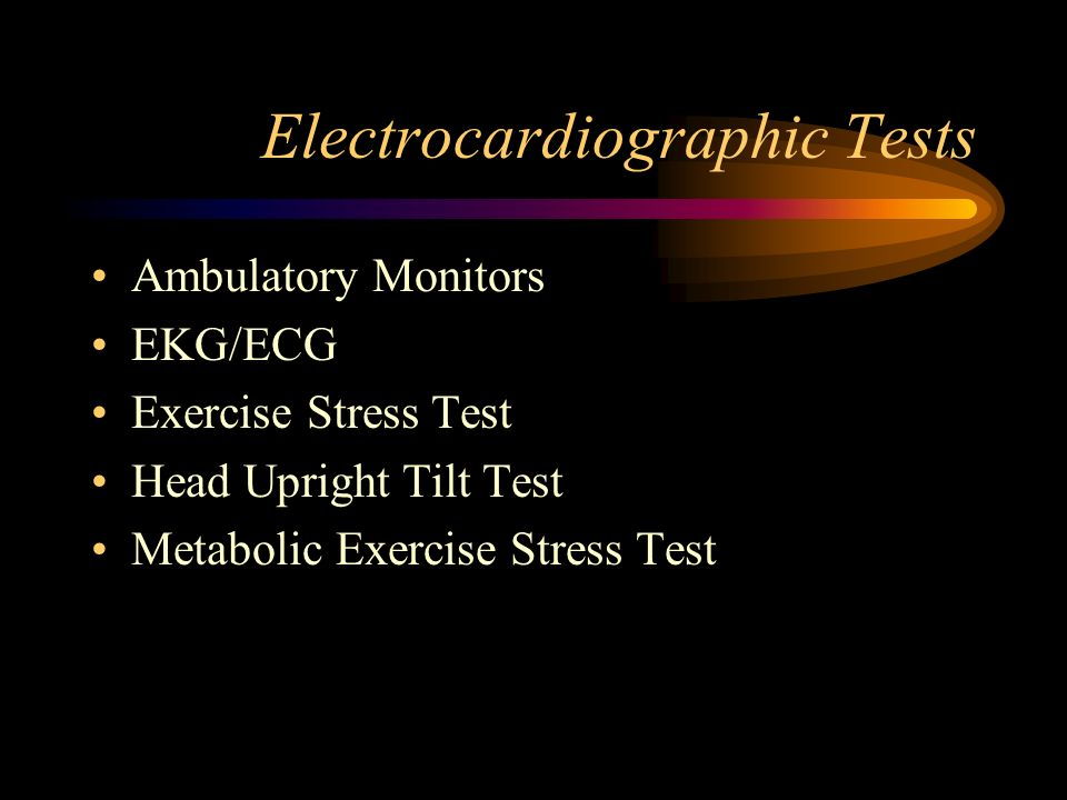 Electrocardiographic Tests