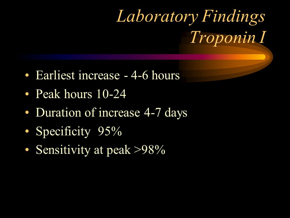 Laboratory Findings Troponin I