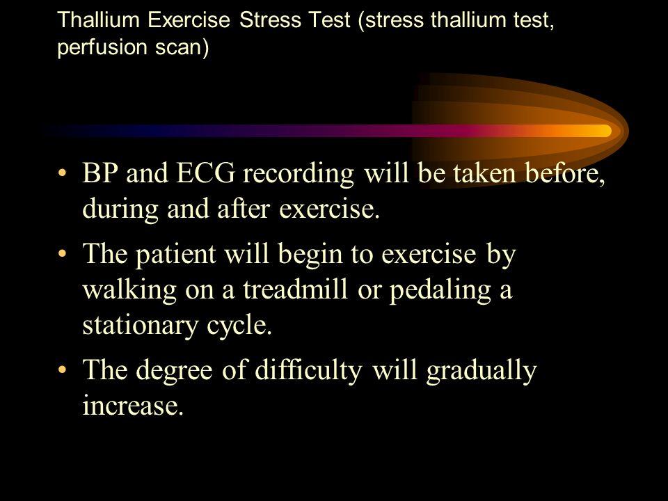 Thallium Exercise Stress Test (stress thallium test, perfusion scan)