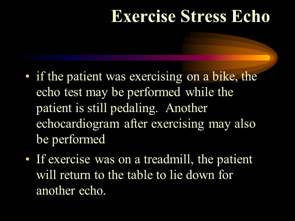 Exercise Stress Echo