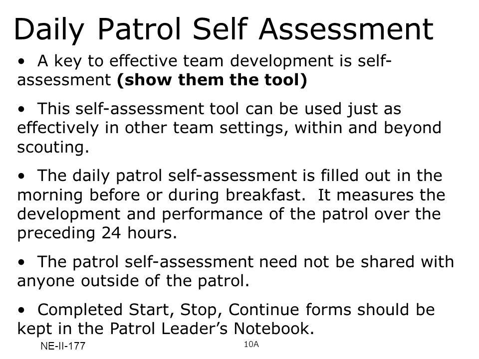 Daily Patrol Self Assessment