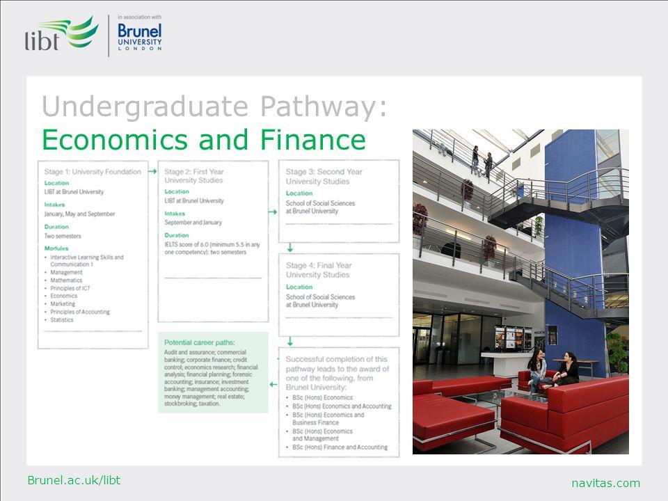 Undergraduate Pathway: Economics and Finance