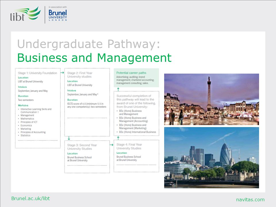 Undergraduate Pathway: Business and Management