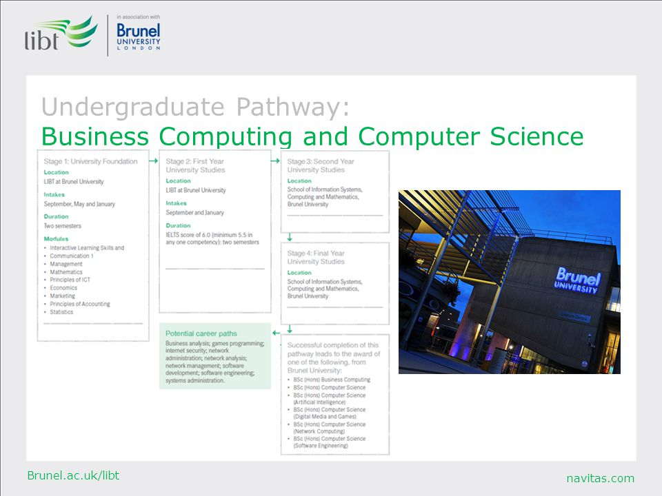 Undergraduate Pathway: Business Computing and Computer Science